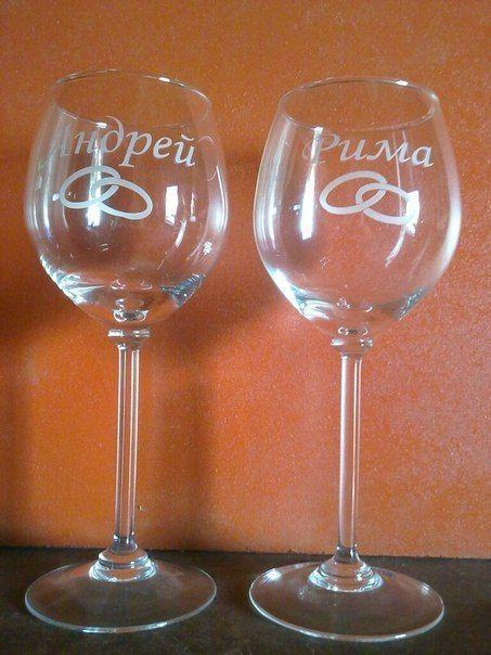 свадебные бокалы с надписью - фото 3971983 Декор-Фэнтези - аксессуары, сувениры