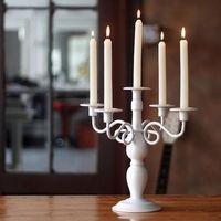Подсвечник белый на 5 свечей.
