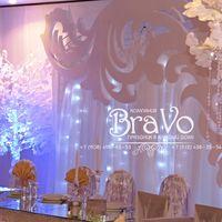 """Свадьба в стиле """"Зимняя сказка"""" Олега и Татьяны 5 декабря  2015 года с ажурной аркой, зеркальной столешницей и красивыми белыми, как будто заснеженными деревьями."""