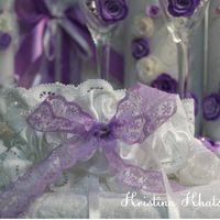 """Свадебная подвязка """"В фиолетовом цвете"""""""