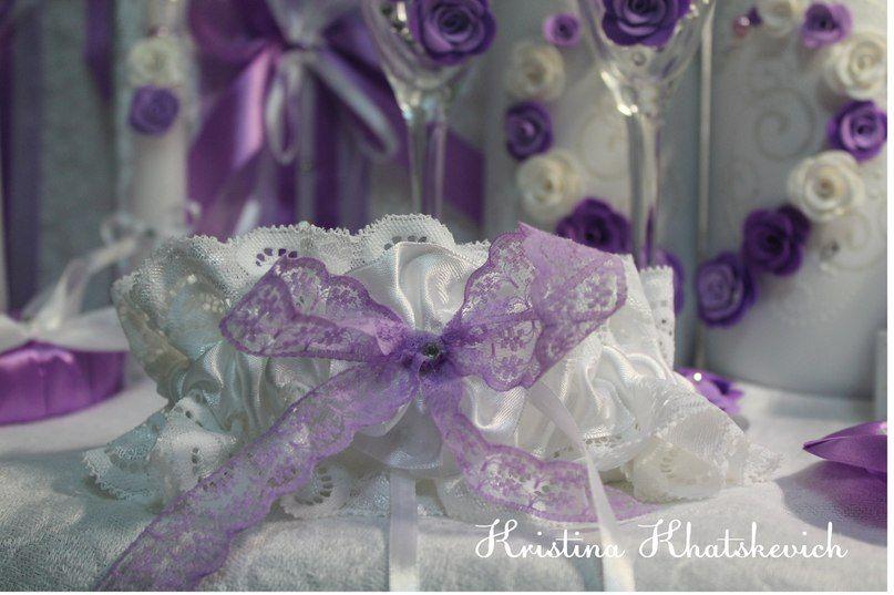 """Свадебная подвязка """"В фиолетовом цвете"""" - фото 2754187 Кристина Хацкевич - свадебный декоратор"""