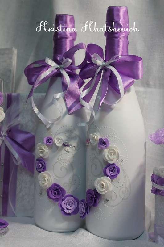 """Свадебное шампанское """"В фиолетовом цвете"""" - фото 2754191 Кристина Хацкевич - свадебный декоратор"""
