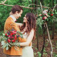 Свадьба в стиле лесное бохо, свадьба в лесу