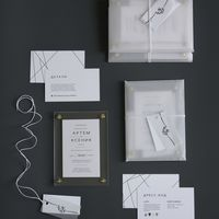 Приглашение из оргстекла Бумага 350гр Конверт из полупрозрачной кальки