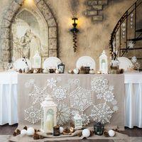свадьба банкет декор зимняя свадьба
