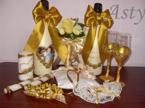 Украшения на золотую свадьбу своими руками