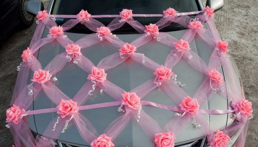 Как сшить украшение свадебной машины из фатина