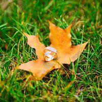 кольца,свадьба осенью в москве,осенняя свадьба в парке царицыно