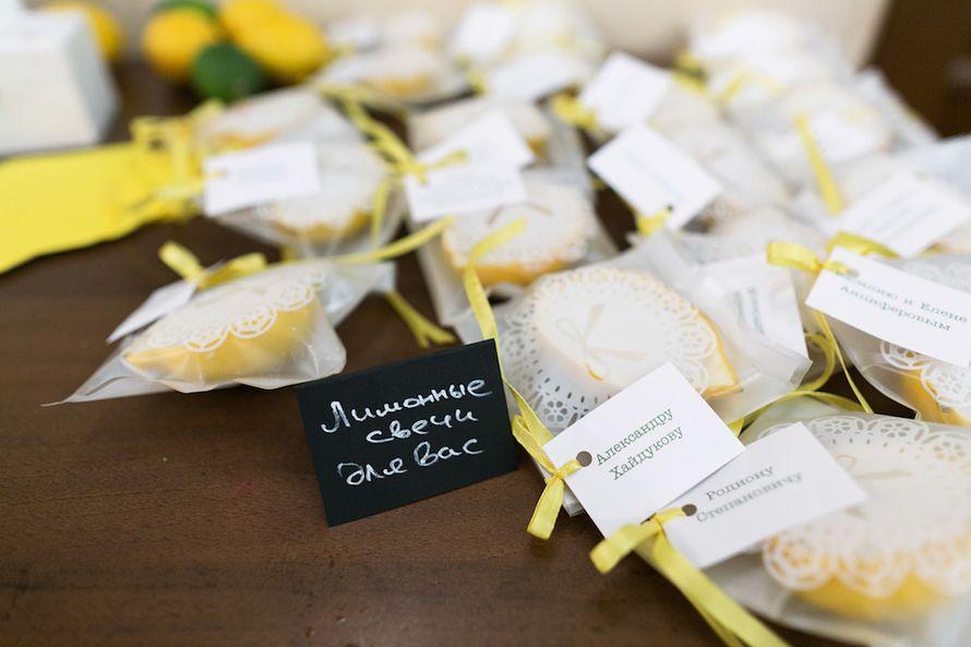 Лимонные свечи ручной работы, как подарок для гостей - фото 4494177 Свадебное агентство - Счастье
