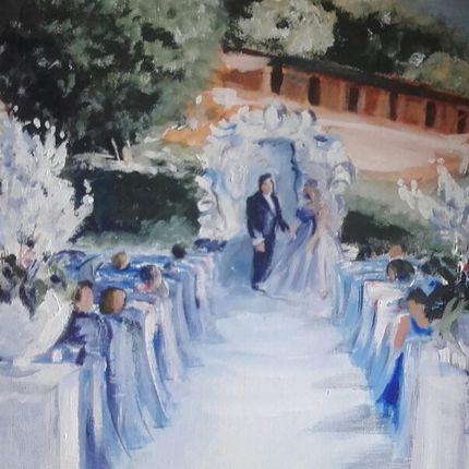 """Рисование портретов во время свадьбы """"вживую"""""""