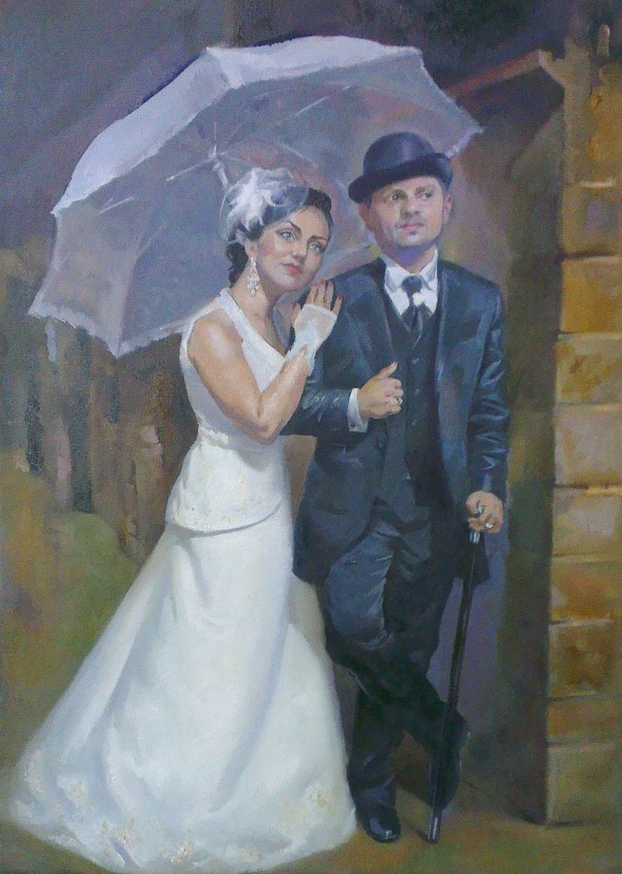 Портрет по фото на свадьбу