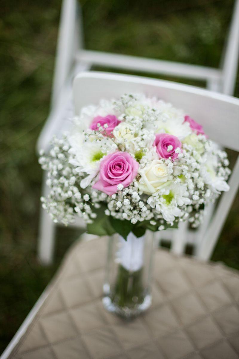Букеты для, букет невесты из гипсофила и розах