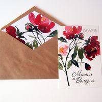 "Приглашение ""Watercolor flowers"""