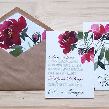 "Приглашение на свадьбу ""Watercolor Flowers"""