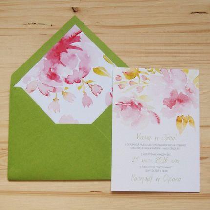 """Приглашение на свадьбу """"Spring"""""""