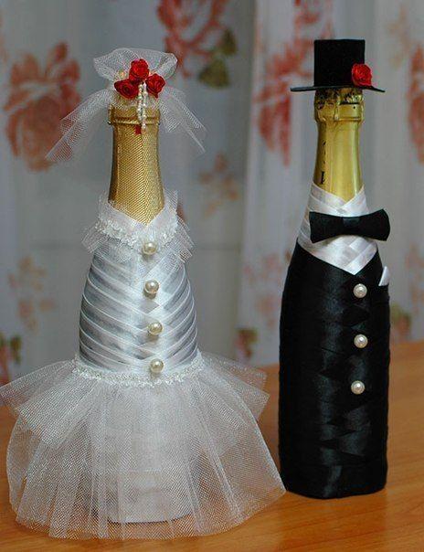 Декупаж бокалов к свадьбе своими руками
