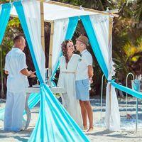 Ярко-голубая свадьба Дарьяны и Никиты