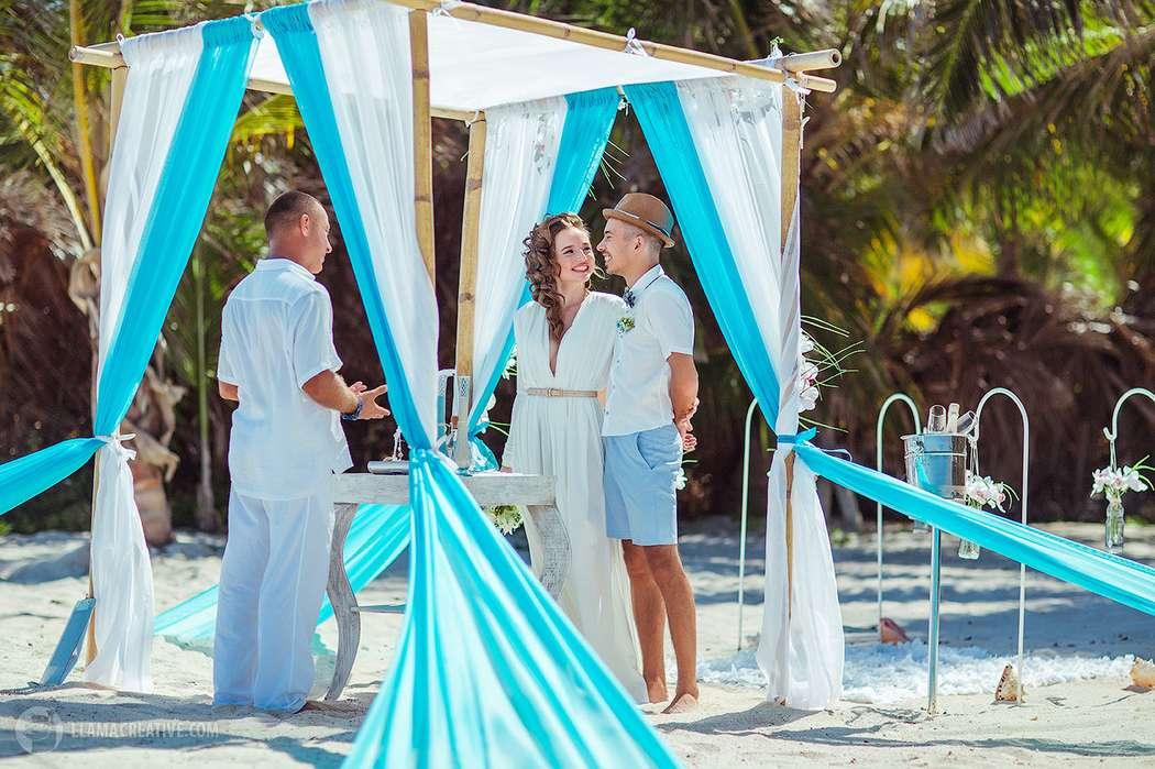 Ярко-голубая свадьба Дарьяны и Никиты - фото 3663523 Свадебное агентство GrandLoveWedding в Доминикане