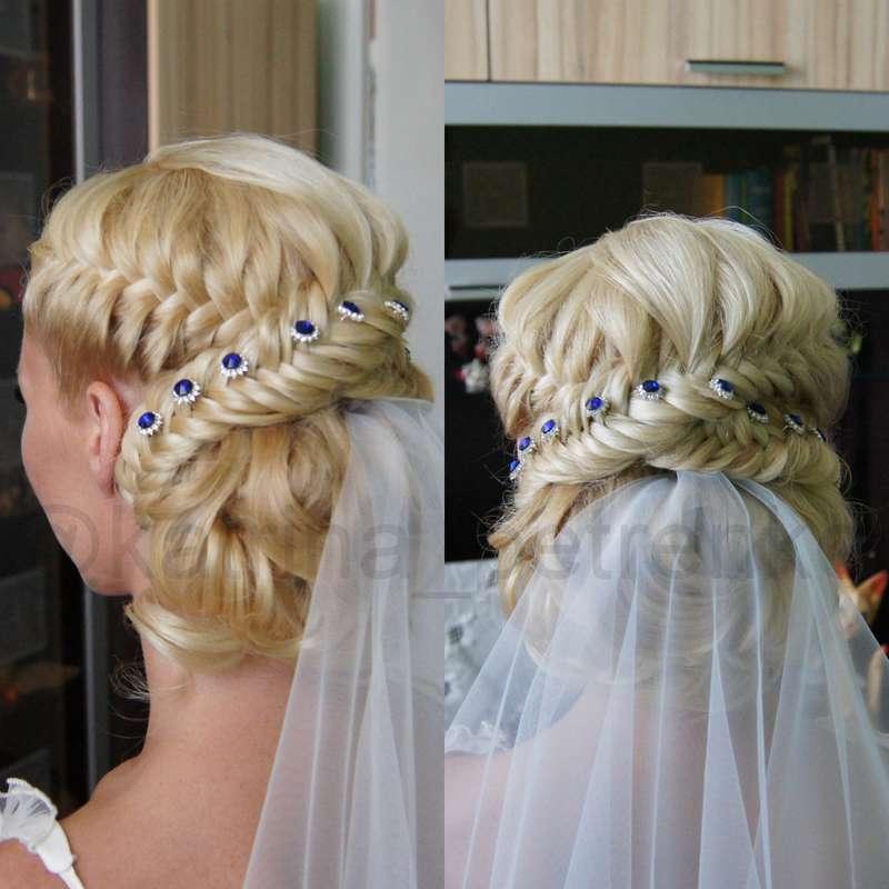 свадебная прическа, блонд, свои волосы, длинна ниже плеч, без валика, - фото 6547958 Стилист-визажист Катрина Петренко