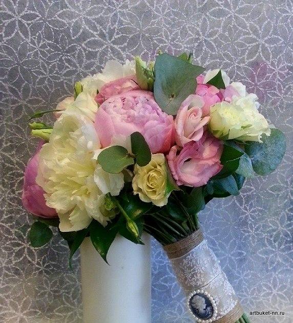 Любимые пионы, аромат и нежность в свадебном букете - фото 3173101 Артбукет - флористика