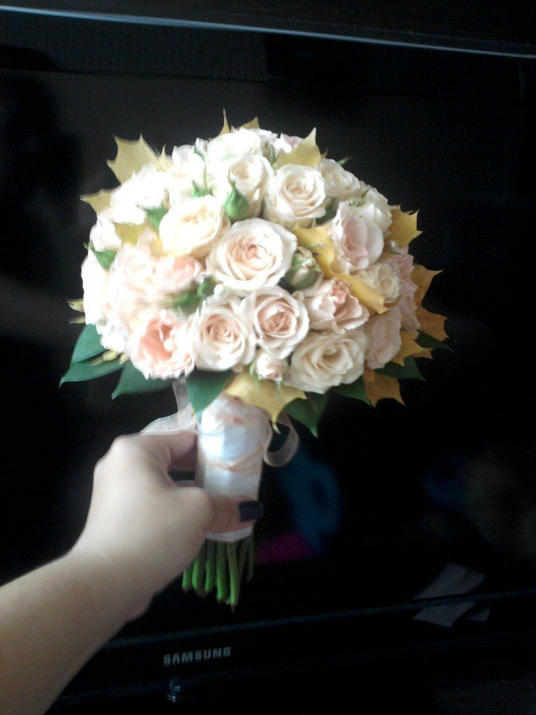 Букет невесты из кустовой розы своими руками 66