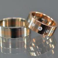 Обручальные кольца из комбинированного золота 585, с бриллиантами