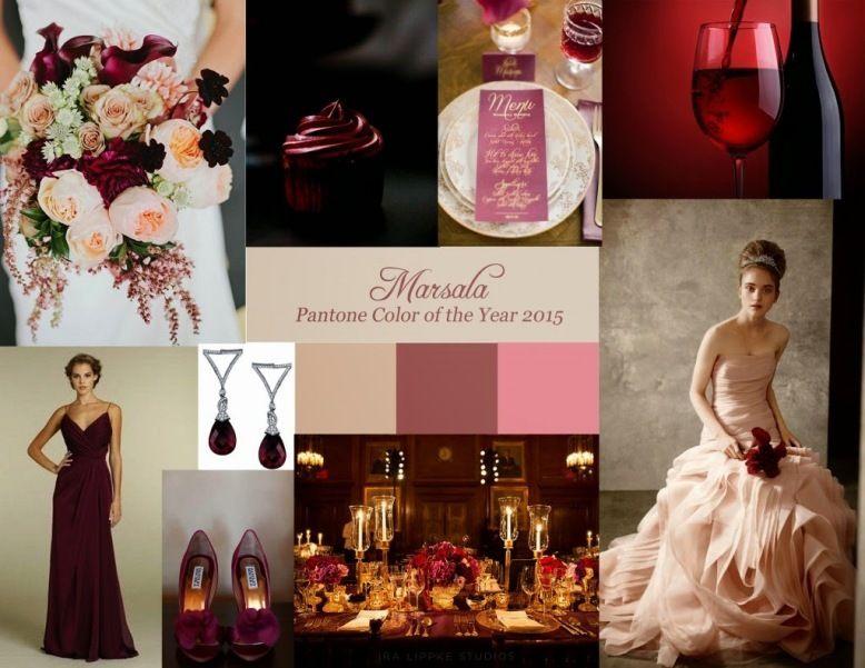 Марсала - бордовый цвет - фото 7401384 Italia Viaggi - организация свадеб