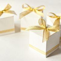 """Коробочки бон-бон для подарков гостям из коллекции """"Белое золото"""""""
