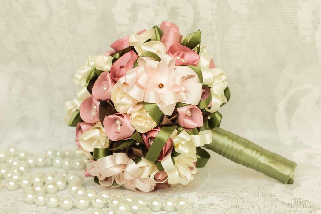 Хризантем, свадебный букет цветы из лент мастер класс