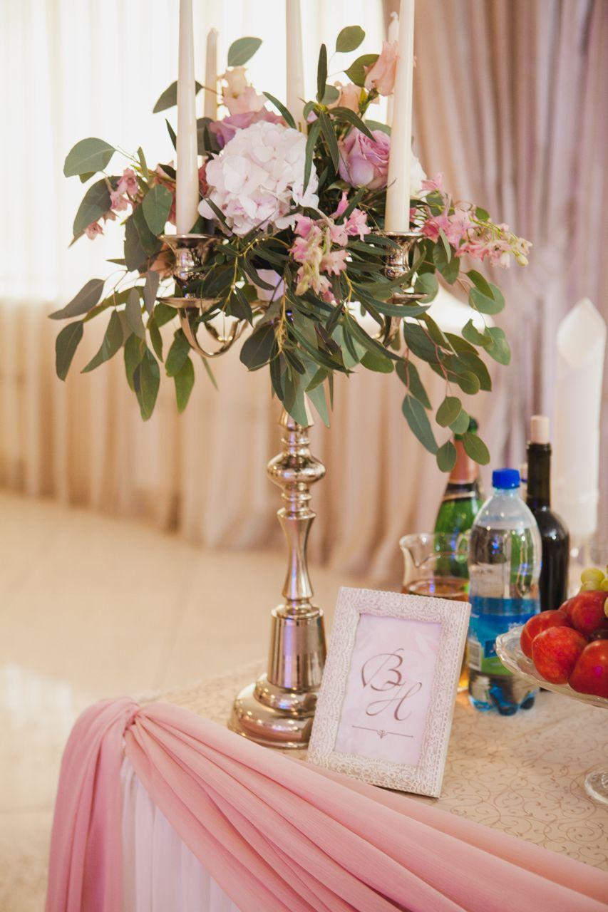Декор стола молодоженов - фото 16389886 Флорист Наталья Жукова