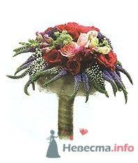 Идея букета невесты с красными розами.  - фото 332 moonwoman