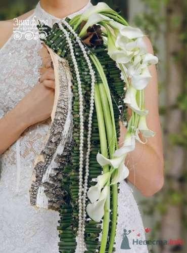 Зеленый каскадный букет невесты. - фото 336 moonwoman