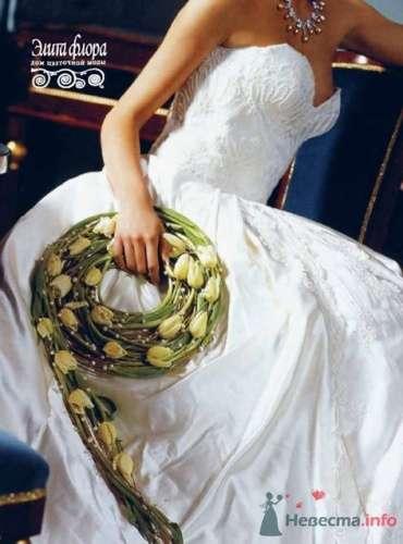 Букет невесты из тюльпанов в виде венка. - фото 342 moonwoman