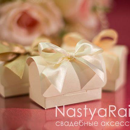 Коробочка для подарков гостям айвори