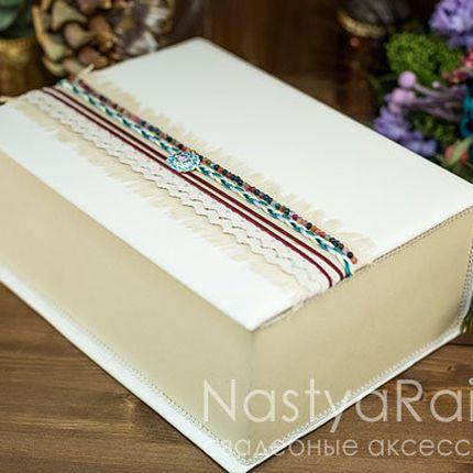Ларец книга для конвертов бохо