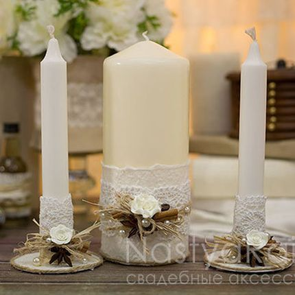 """Набор свечей """"Рустикальная романтика"""""""