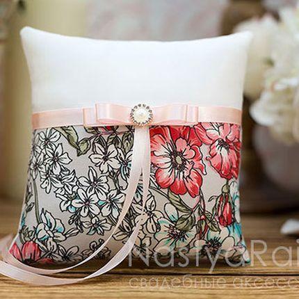 """Подушка для колец """"Английский сад"""""""