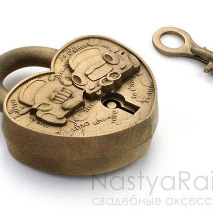 """Замочек """"Путешествие"""" античное золото"""