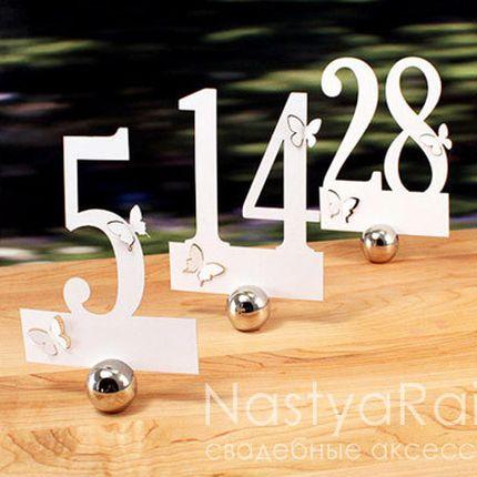 Набор номеров стола с бабочками, с 1 по 12