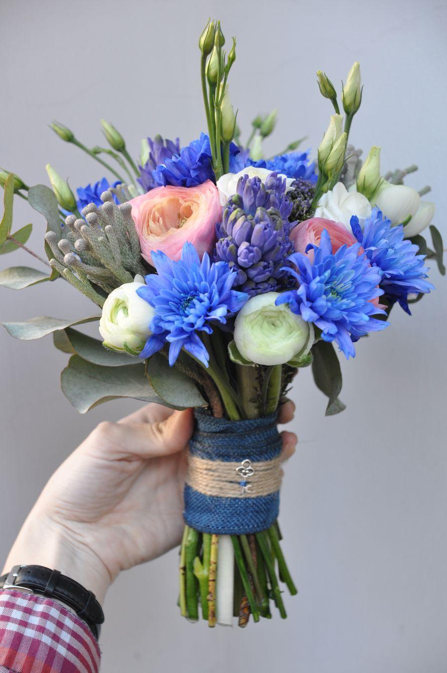 Голубые цветы фото для букета