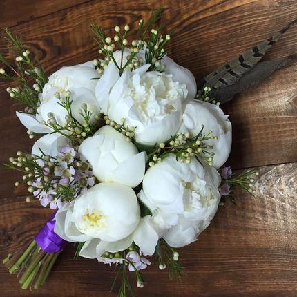 Букет невесты + бутоньерка в подарок