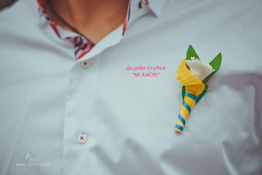 """бутоньерка для жениха - фото 2435043 Дизайн-студия """"Mi Amor"""" - свадебные аксессуары"""