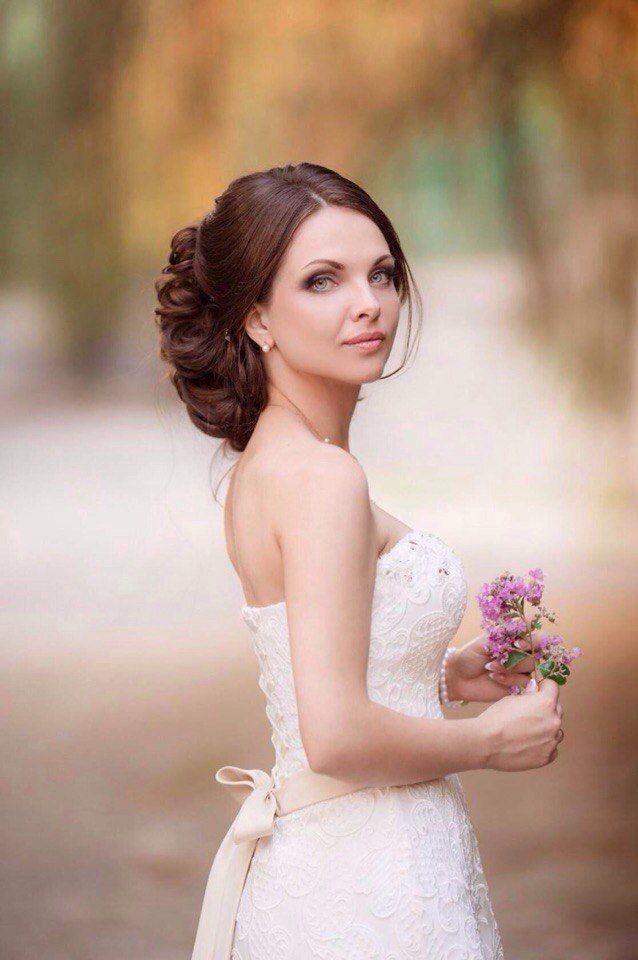 Причёска + макияж невесты