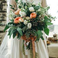 Свадьба в стиле рустик - декор арки для выездной регистрации, свадебный букет, венок и бутоньерка