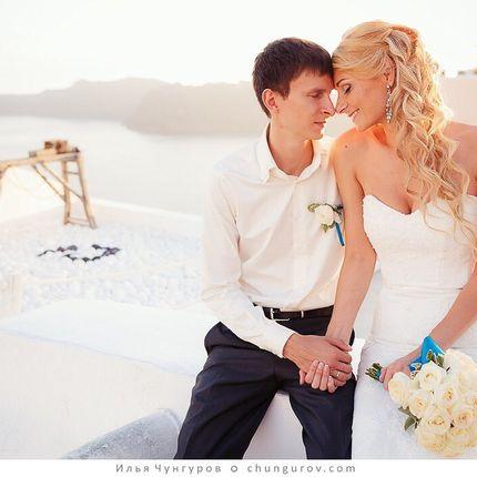 Свадебный стилист на Санторини