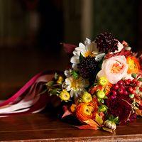 свадебный осенний буккет
