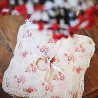Подушечка для зимней свадьбы