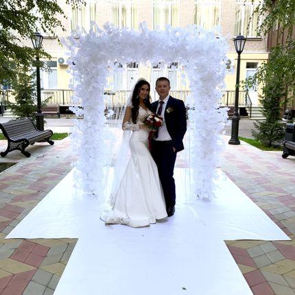 Белоснежная выездная регистрация бракосочетания