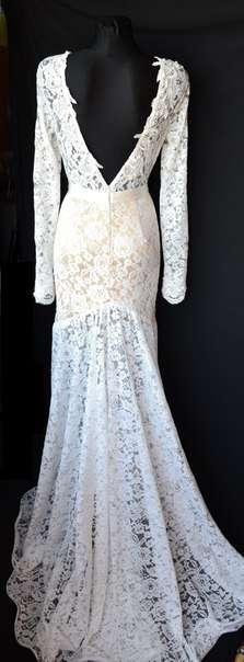 Очень красивое свадебное платье с нежным кружевом,цвет айвори. Платье украшено жемчугом. Цена платья 3100 гривен. - фото 2629497 Love story ukraina