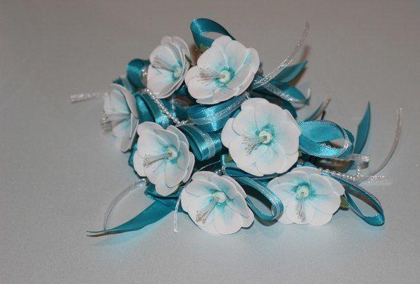 Шпильки для прически:) подойдут как и в волосы невесты, так и на замену браслетиков для подружек:) - фото 3789101 Art-мастерская МАлина - свадебные аксессуары